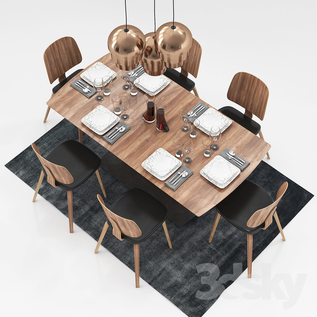 3d models table chair boconcept milano and aarhus. Black Bedroom Furniture Sets. Home Design Ideas