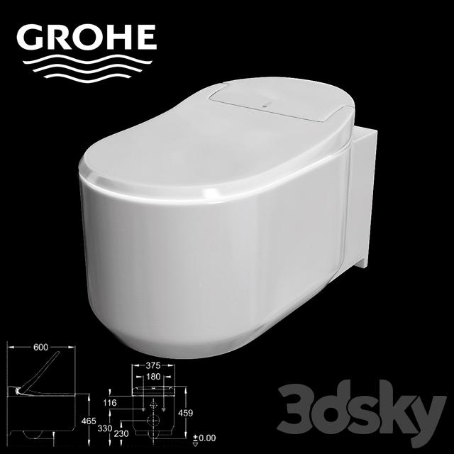 3d models toilet and bidet grohe sensia arena. Black Bedroom Furniture Sets. Home Design Ideas