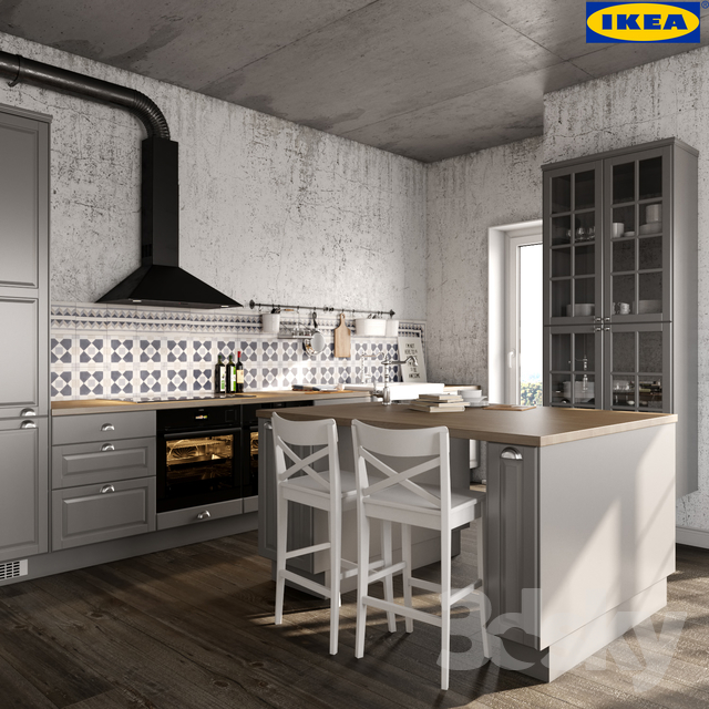 Ikea Cabinets Yes Or No: 3d Models: Kitchen