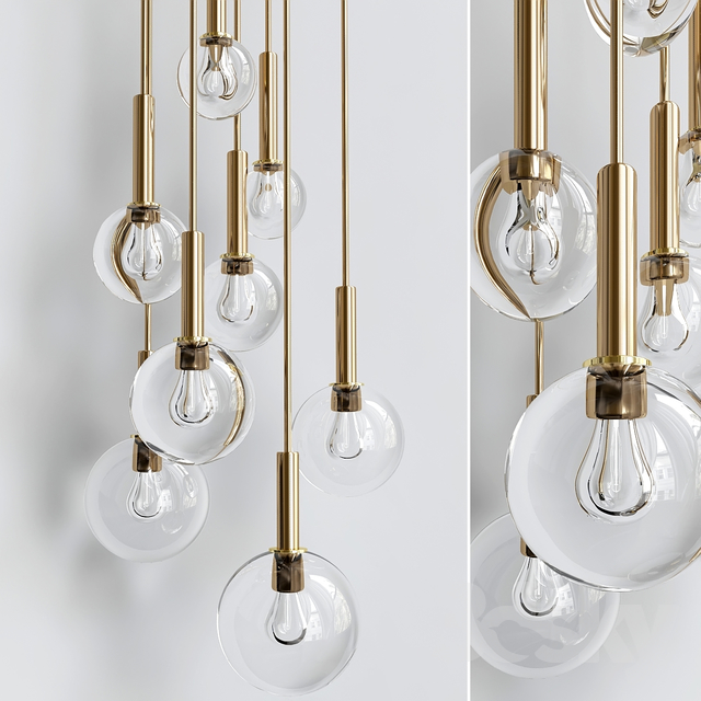 3d models ceiling light brass and smoked glass ceiling lights brass and smoked glass ceiling lights mozeypictures Choice Image