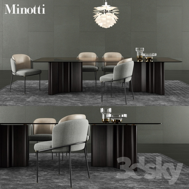 3d models Table Chair Minotti Lou Dining Table amp Fil  : 15954645a48d65f103de from 3dsky.org size 640 x 640 jpeg 276kB