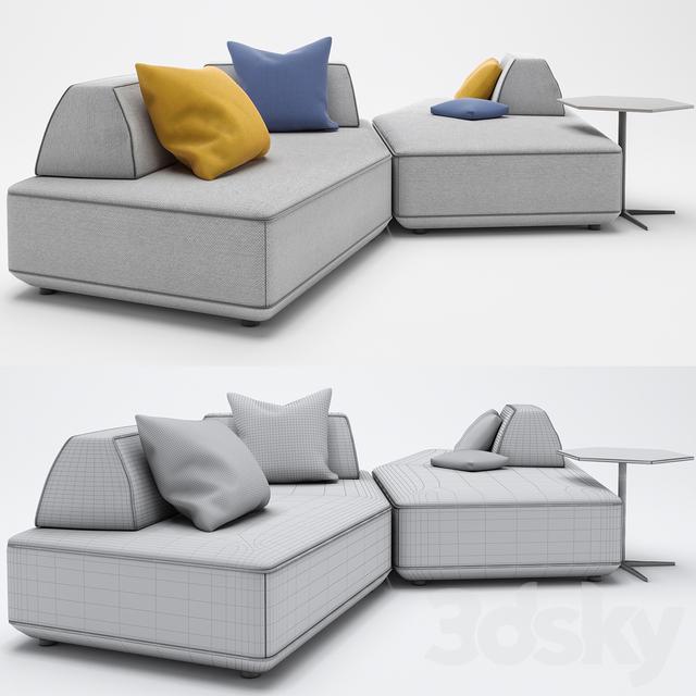 3d Models Sofa Pentagonal Sofa Art Nova