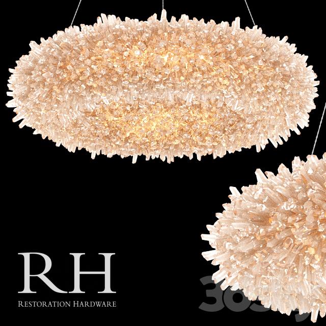 D Models Ceiling Light Chandelier Restoration Hardware Geode - Quartz chandelier crystals