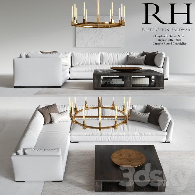 3d models sofa restoration hardware modern. Black Bedroom Furniture Sets. Home Design Ideas