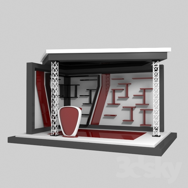 Exhibition Stand 3d Model : 3d models: other architectural elements exhibition stand