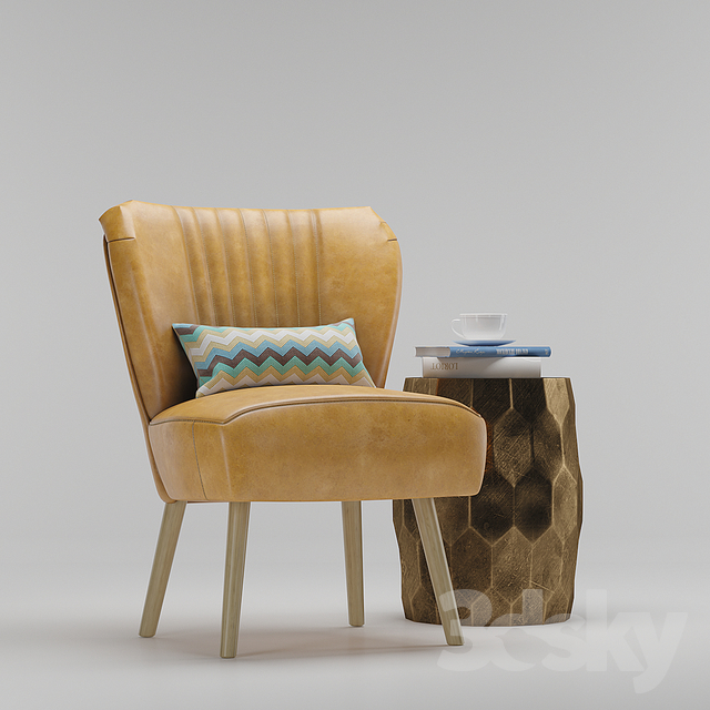 3d Models Arm Chair Maxwell Chair And Vince Metal Clad
