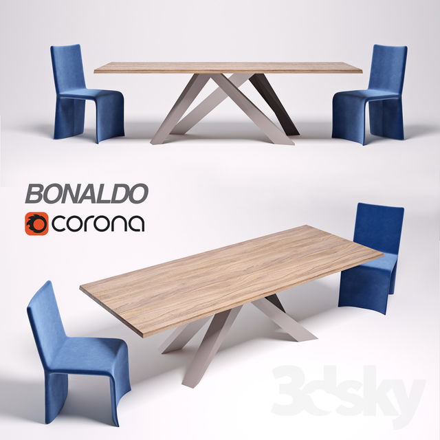 3d models: Table + Chair - Table Bonaldo Big Table, chair Bonaldo ...