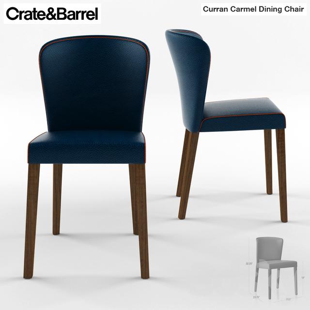 3d Models: Chair   Crate U0026 Barrel Curran Crema Dining Chair