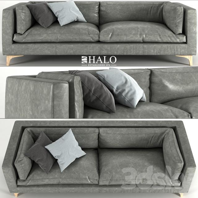 3d models: Sofa - Halo Dwell 3 Seater Sofa