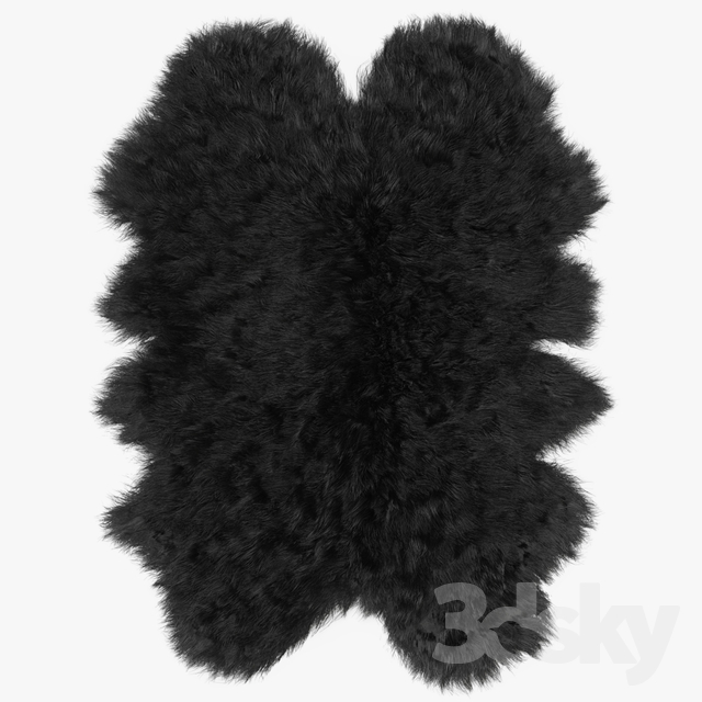 Sheepskin black rug