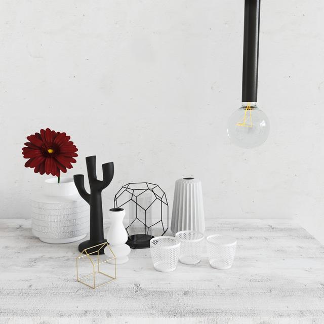 3d Models Decorative Set Decorative Bloomingville Vases