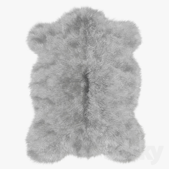 Plush Mongolian Sheepskin rug