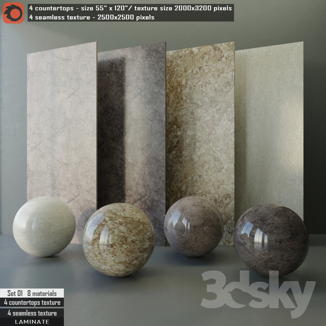 Laminate Countertops U0026 Seamless Texture Set 01