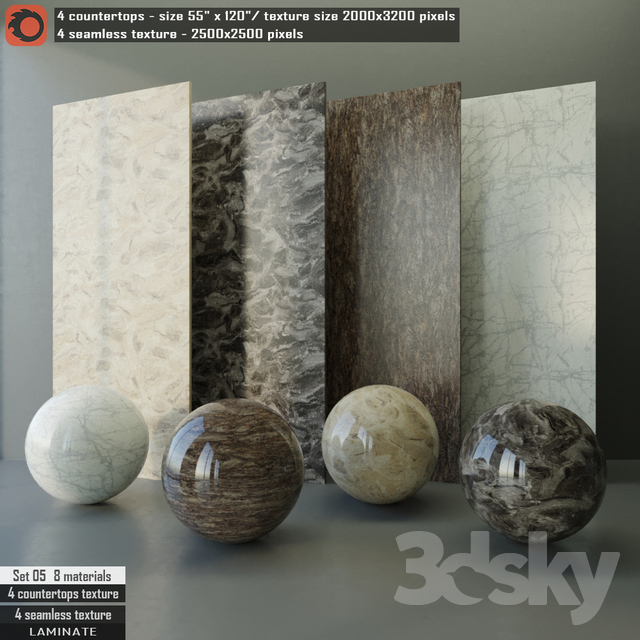 Laminate countertops & Seamless texture Set 05