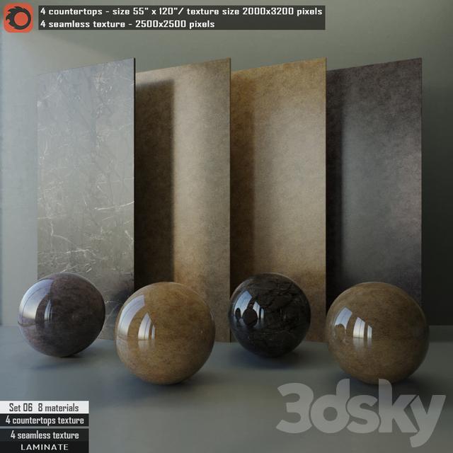 Laminate countertops & Seamless texture Set 06