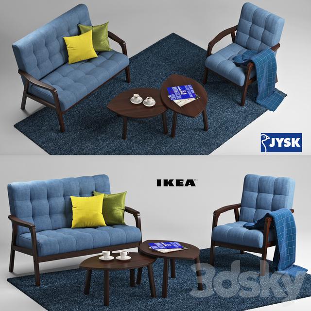 3d models other jysk and ikea living room set. Black Bedroom Furniture Sets. Home Design Ideas