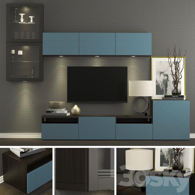 TV Cabinet Ikea Besto / Besta Hallstavik (dark Blue).