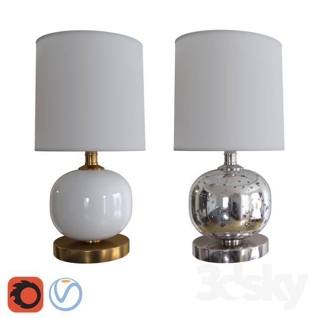 3d Models Table Lamp West Elm Mini Abacus Table Lamp
