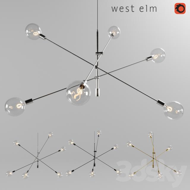 3d models ceiling light chandelier west elm mobile chandelier grand chandelier west elm mobile chandelier grand mozeypictures Image collections