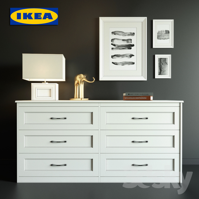 new arrival b6bf5 b7e8b 3d models: Sideboard & Chest of drawer - Chest of IKEA SONGESAND