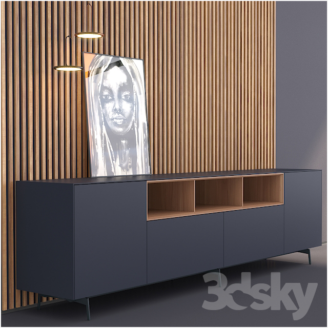 3d models sideboard chest of drawer piure nex sideboard. Black Bedroom Furniture Sets. Home Design Ideas