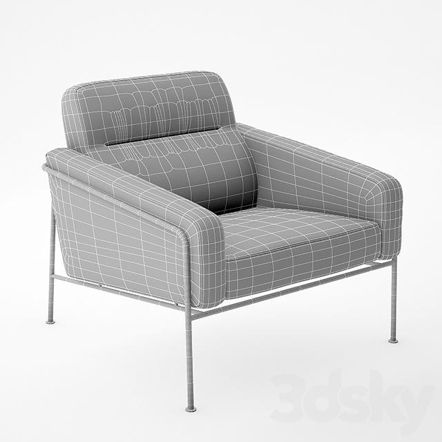 3d models arm chair fritz hansen series 3300 easy chair
