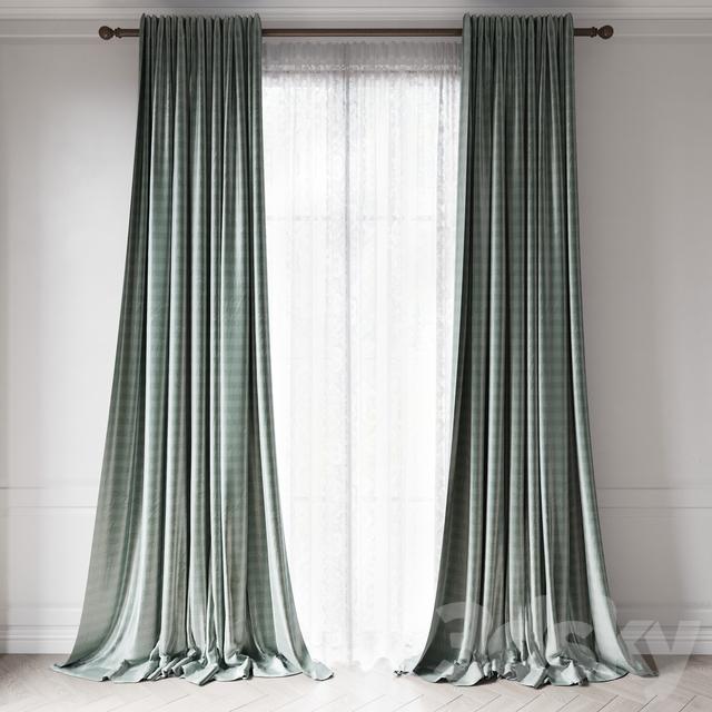 Curtains RH THAI SILK TONAL STRIPE