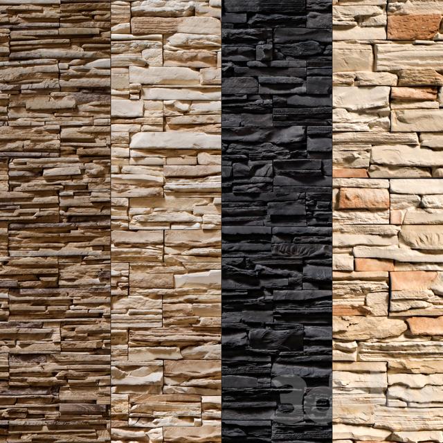 3d models: Stone - Stone Walls set 8