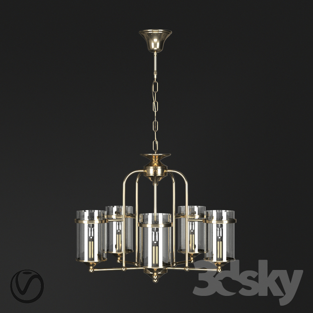3d models ceiling light chandelier with 5 lamps by terandpet chandelier with 5 lamps by terandpet aloadofball Choice Image