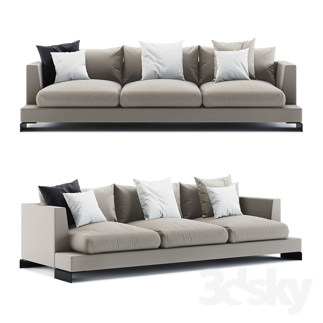 3d models: Sofa - Flexform Long Island