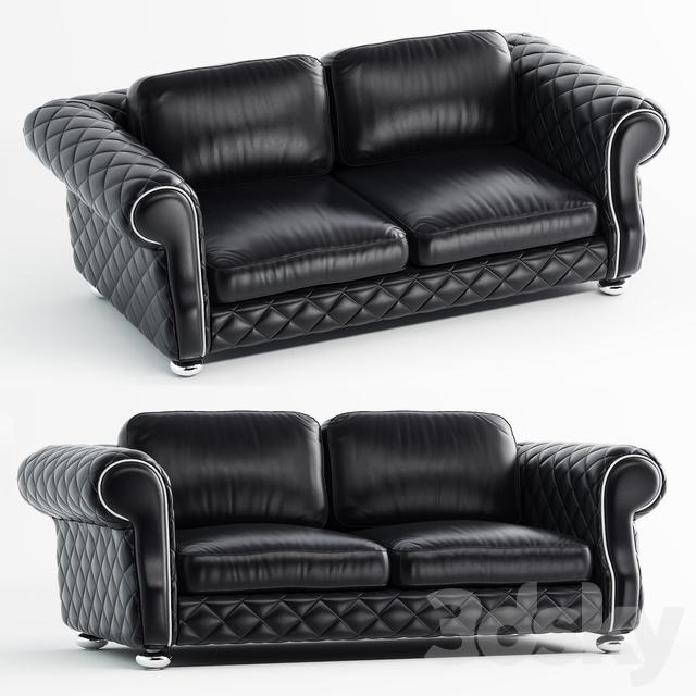 3d Models Sofa Lugano Leather Standard Sofa