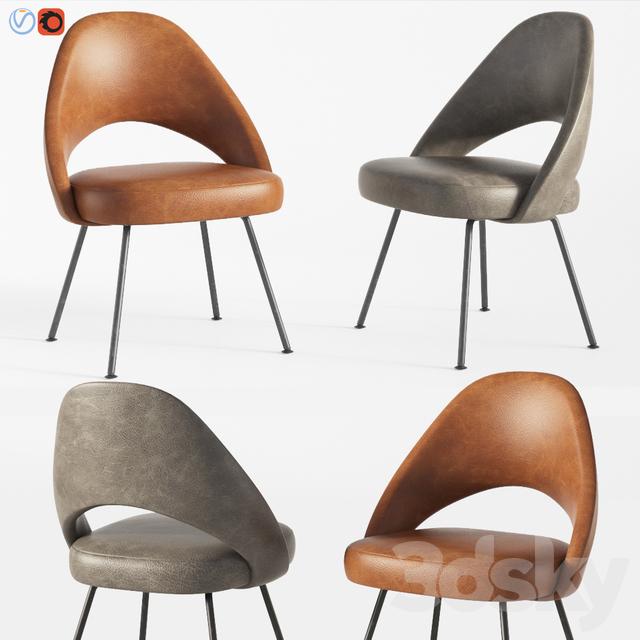 3d models chair saarinen executive armless chair