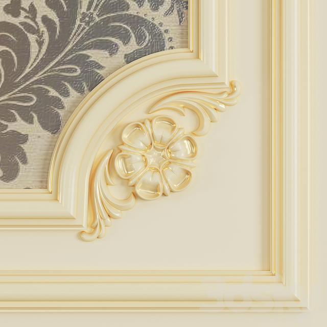 3d models: Decorative plaster - Frame for gypsum