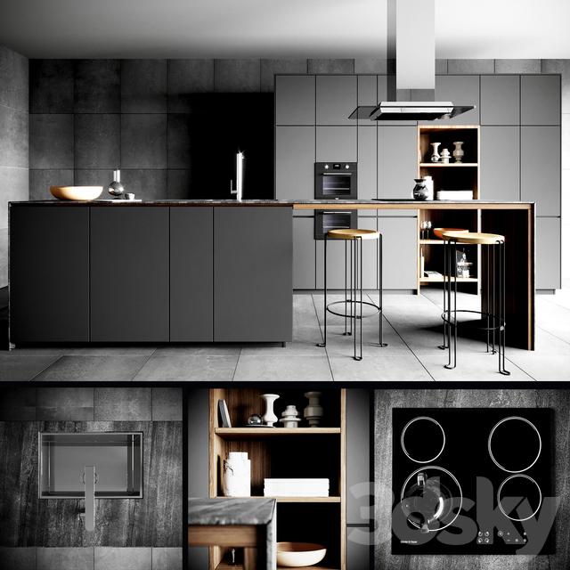 3d Models Kitchen Valcucine Forma Mentis Dark
