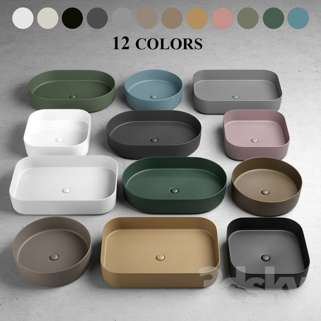 Ceramica Cielo 3d models: wash basin - ceramica cielo shui comfort