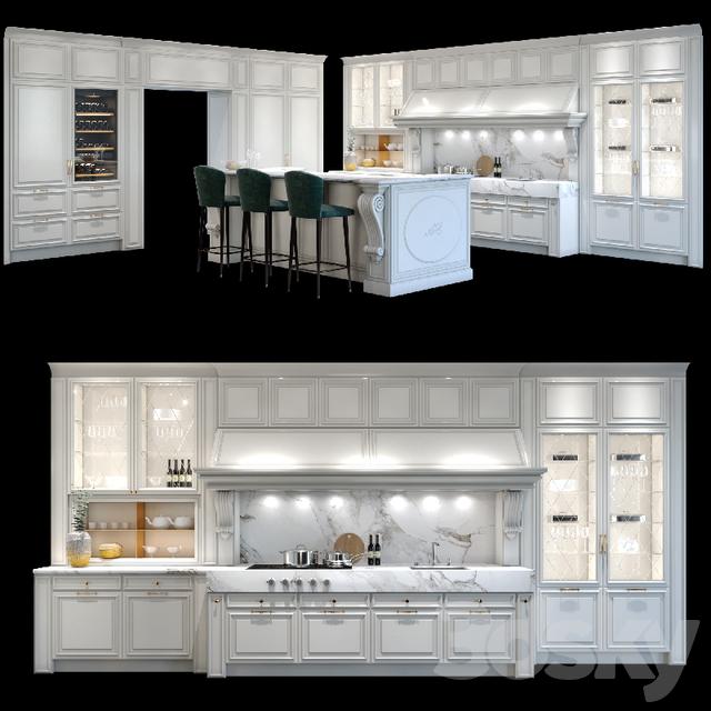 3d models: Kitchen - Castagna Cucine Roma