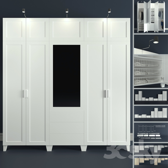 3d models wardrobe display cabinets the modular system of platsa ikea designer. Black Bedroom Furniture Sets. Home Design Ideas