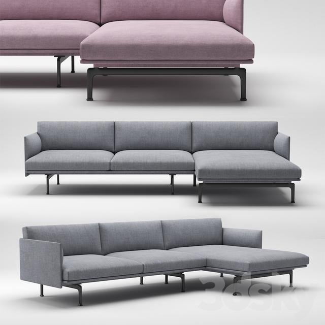 3d Models Sofa Muuto Outline Chaise Longue