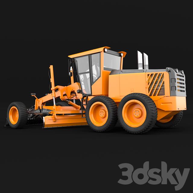 3d models: Transport - Grader / Grader