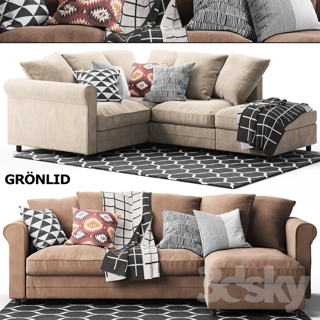 3d Models Sofa Gronlid Corner Sofa With Chaise Longue