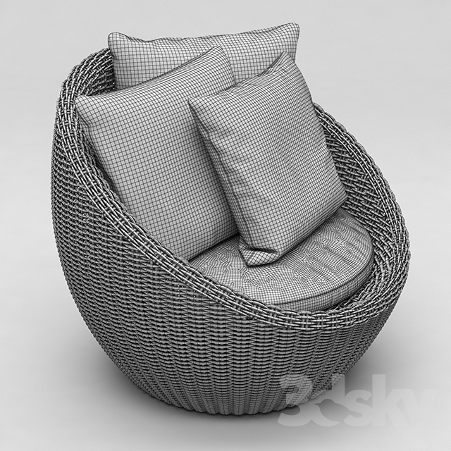 3d Models Arm Chair Torrey All Weather Wicker Papasan Chair Espresso