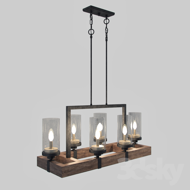 3d Models Ceiling Light The Gray Barn Vineyard Metal And Wood 6