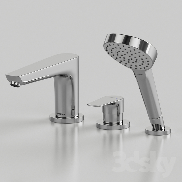 3d models: Faucet - Mixer Hansgrohe Talis E 71731000 on the side of ...
