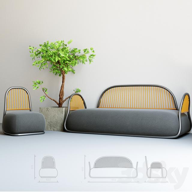 Attirant 3d Models: Other   Circe Sofa