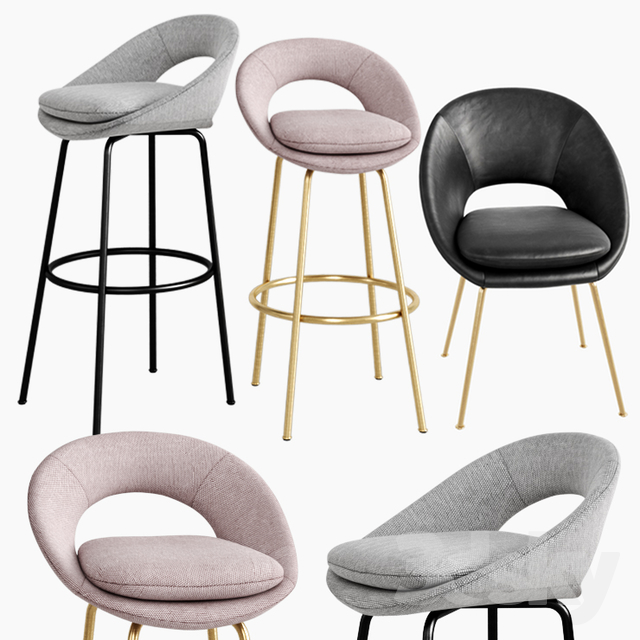Amazing 3D Models Chair West Elm Orb Dining Chair Bar Counter Gmtry Best Dining Table And Chair Ideas Images Gmtryco