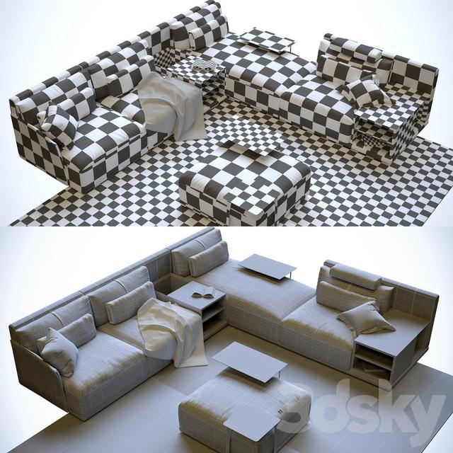 3d Models: Sofa   Isola Sofa From Nicoline