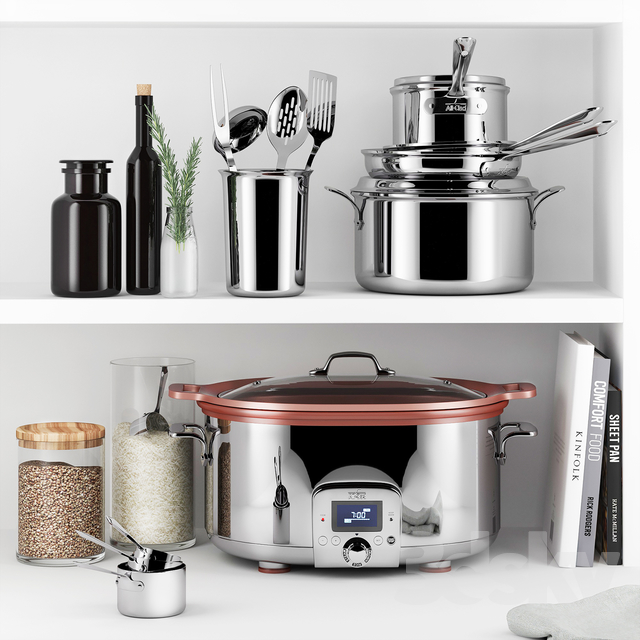 3d models: Tableware - All-Clad Cookware Set