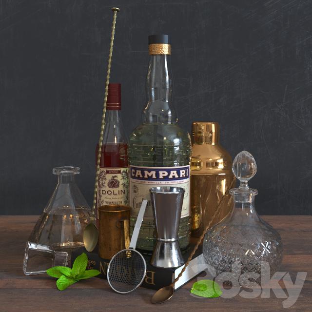 Decorative set for a bar