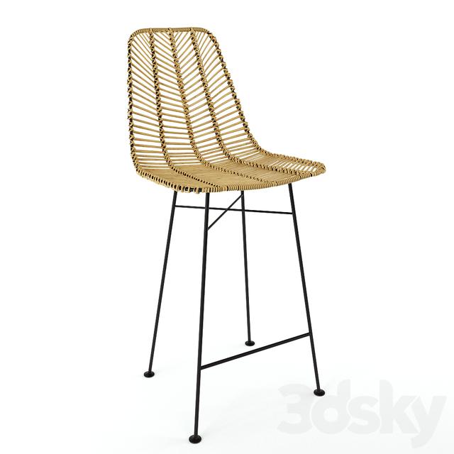 Bloomingville Rotan barstool chair natural / Bloomingville bar stool from rattan