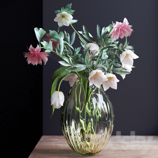 Bouquet of flowers in a vase 24